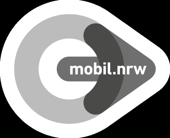 Logo von mobil.nrw in Schwarz-Weiß für RBG